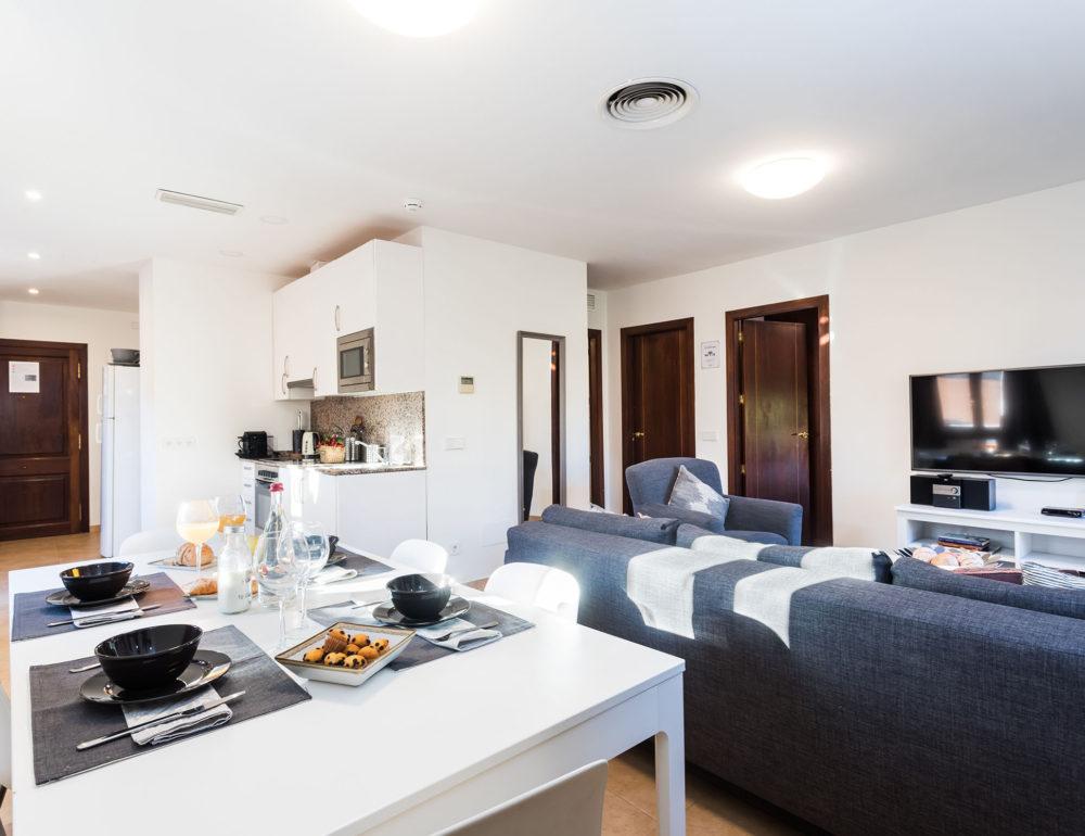 Borne-Suites-Apartamento-Ático-Terraza-Palma-de-Mallorca-Comedor