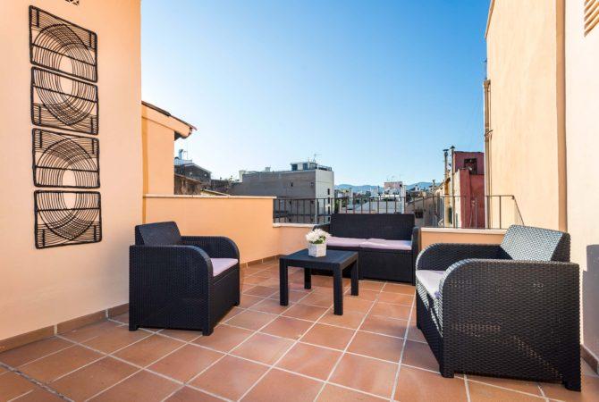 Borne-Suites-Apartamento-Ático-Terraza-Palma-de-Mallorca-Terraza